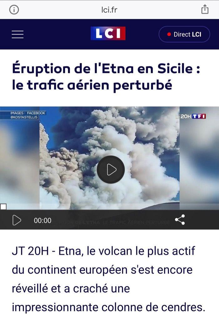 L'Italie retiens sont souffle pour l'Etna